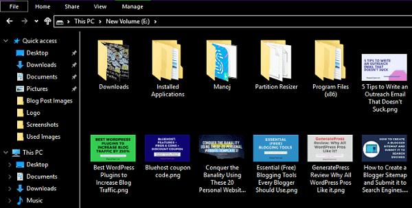 Windows 10 dark theme