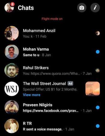 Messenger dark mode android
