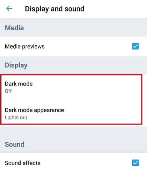 Twitter dark mode 1