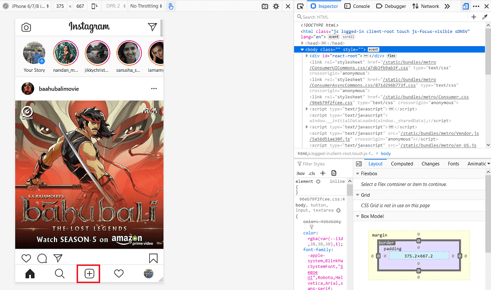 Post to Instagram from Firefox