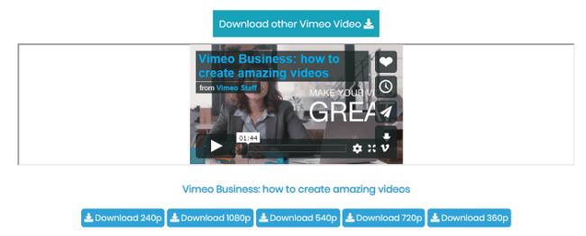Vimeo download