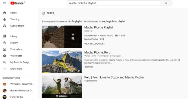 YouTube Music playlists