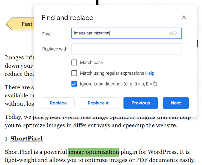 Find-and-replace-Google-docs
