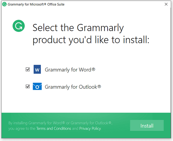 Grammarly-to-outlook