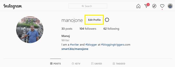 Instagram-profile