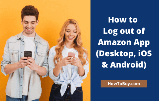 How to Log out of Amazon App 1