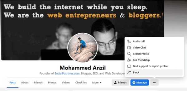 How to Block or Unblock Someone on Facebook 3