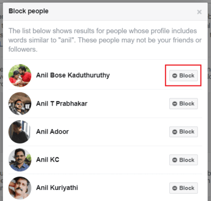 How to Block or Unblock Someone on Facebook 5