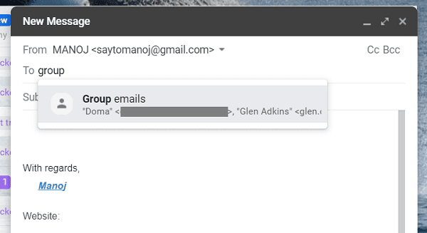 How to Create a Group and Send Mass Emails in Gmail 4